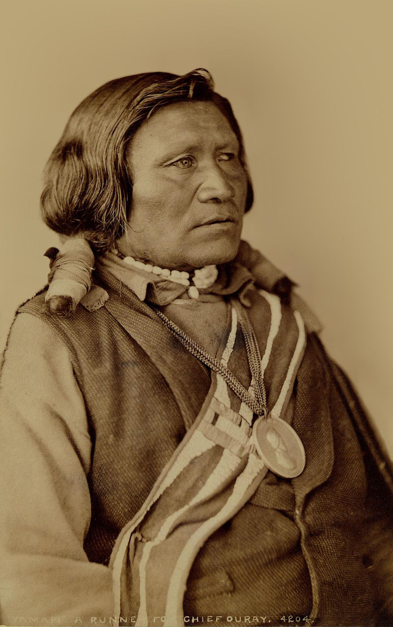 An old photograph of Yamapi, Runner for Chief Ouray 1882ish.