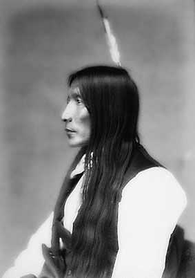 An old photograph of Yellow Hair - Brule Sioux.