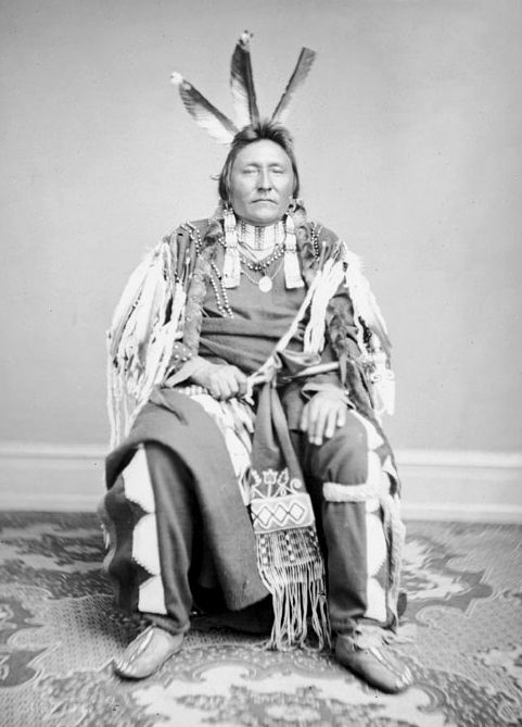 An old photograph of Yellow Hawk - Sans Arc 1867.