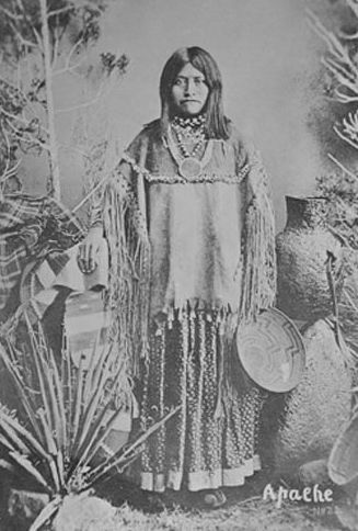 An old photograph of Young Apache Woman [A].