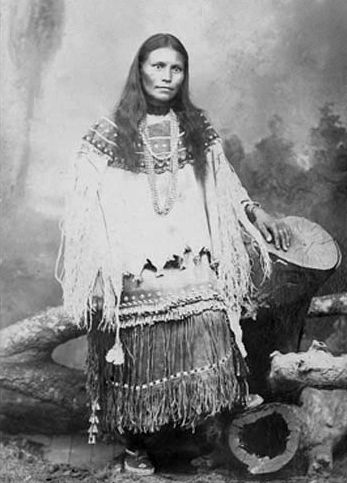 An old photograph of a Young Apache Woman [B].