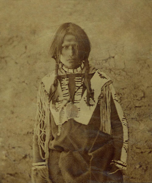 An old photograph of Young Brave - Jicarilla Apache 30th Sept 1871.