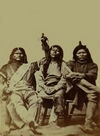 A Group of 3 Pah-Ute Indians.