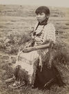 A Young Kiowa Indian Girl.