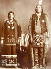 A Ponca Man and Wife.