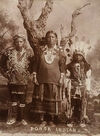A Ponca Woman with her Sons.