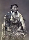 A Young Yankton Indian Girl in Full Dress.