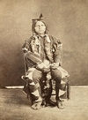 A Yankton Indian Man Sitting Down.