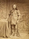 A Yankton Indian Man Standing Up.