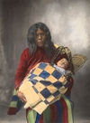 A Wichita Indian with Child. #1.