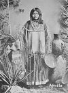 An Apache Woman Wearing a Classic Hide Blouse.