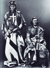 Two Cheyenne Indians; Dull Knife and Little Wolf.