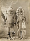 Two Brule Lakota Indians; Follows The Woman and Bull Man.