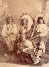 Two Kettle Indians; Iron Thunder, Crow Eagle, Slow White Buffalo, and Fool Thunder.