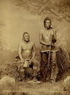 Two Pawnee Indians; Night Chief with A Man That Left His Enemy Lying In The Water.