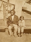 An Ojibwa Father and Son.