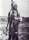 Chief Powder Face in War Regalia, Arapaho.