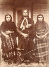 Quanah Parker with two of his Wives.