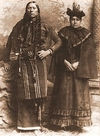 Quanah Parker with One of his Wives.