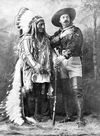 Chief Sitting Bull with Buffalo Bill Cody.