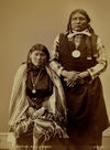 Two Kiowa Indians; Sleeping Wolf and Squaw.
