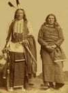 Two Ponca Indians; Standing Bear and White Eagle.