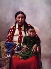 Stella Yellow Shirt and Child, Sicangu Indians.