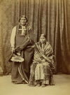Stone Calf and Wife, Southern Cheyenne Indians.