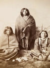 A Ute Mother with Son and Daughter.