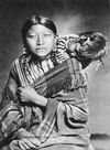 A Young Northern Cheyenne Woman with Child.
