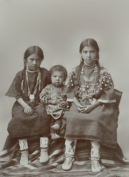 An old photograph of Unidentified Native American Children.