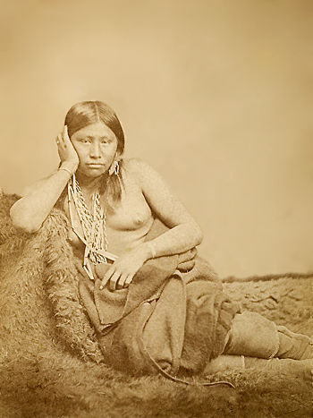 An old photograph of a Caddo Wichita Woman.