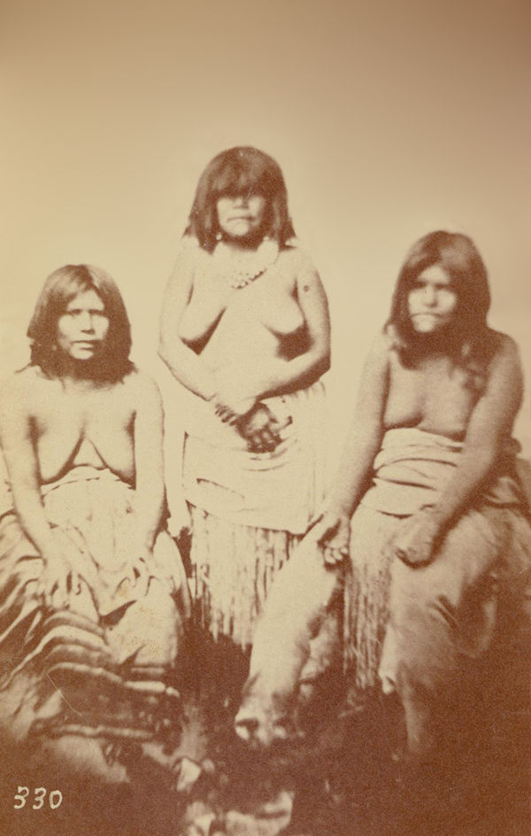 Three Graces of The Gosh Ute Tribe, Omaha 1867-69.