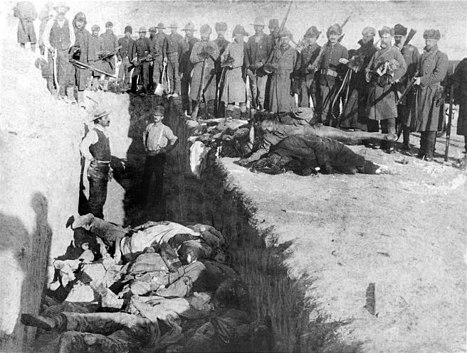Wounded Knee Massacre (b).