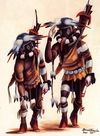 Kachina Paintings. Bruce Timeche - Two Lefties Out Hunting