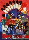 Kachina Paintings. Michael Kabotie - Kachina Sitll Life