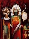 Kachina Paintings. Poteet Victory - The Hunter Spirit