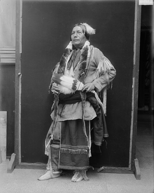 Albert Atocni - A second photograph of an American Indian of the Comanche Nation 1926.