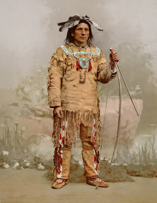 Alek Wabunosa - An American Indian of the Chippewa Nation.