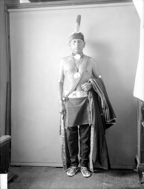 Bacon Rind - Photograph 2 of An American Indian of the Osage Nation 1900.