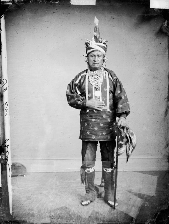 Bear - An American Indian of the Iowa Nation 1869.