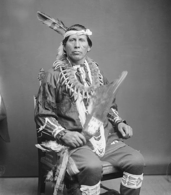The American Indian known as Ben Hallowell of the Iowa Nation 1903.