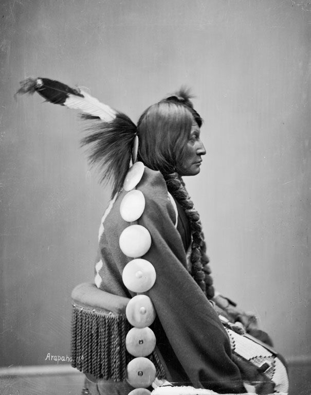 The American Indian known as Big Mouth Hawk of the Arapaho Nation 1872.