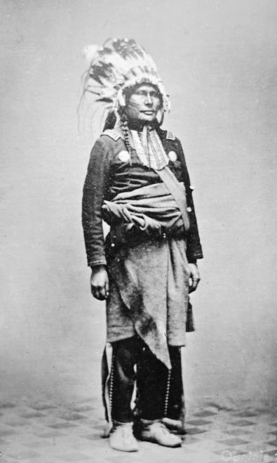 The American Indian known as Big Rib of the Oglala Nation 1868.
