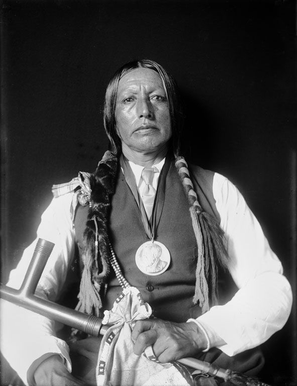 The American Indian known as Bird Chief of the Arapaho Nation 1909.