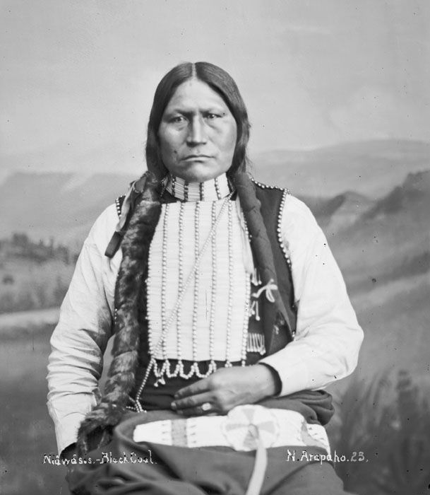An American Indian called Black Coal of the Arapaho Nation 1882.