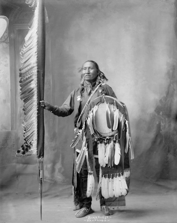 An American Indian called Black Horse of the Arapaho Nation 1898.