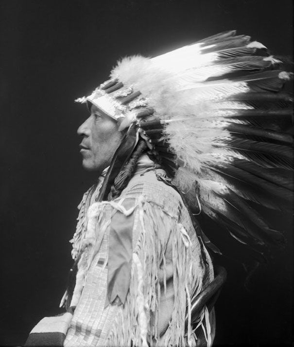 An American Indian known as Black Wolf of the Cheyenne Nation 1913.
