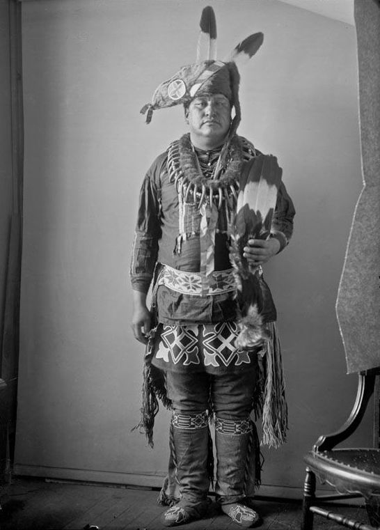 An American Indian called Blue Hair - Iowa 1900.
