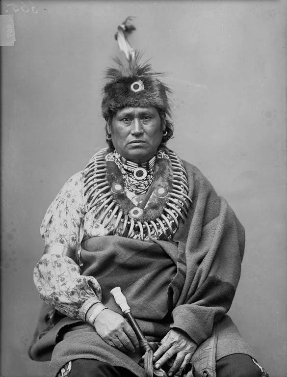The American Indian known as Cannot Do It of the Sauk Nation 1890.